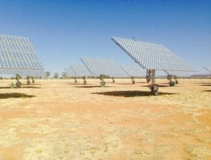 Ein Solarpark in Afrika